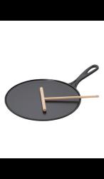 Gietijzeren pannenkoekenpan voor crepes, pannenkoeken en flensjes
