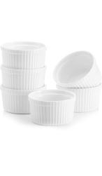 Keramieke Witte Ovenschaaltjes Set 6