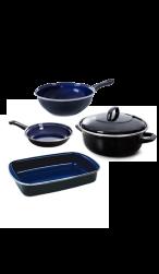 Ovenvaste braadpan, koekenpan, wokpan en braadslede