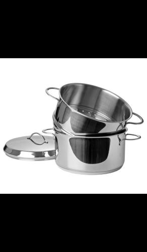 Habonne Stoomset met rvs kookpan en stoominzet