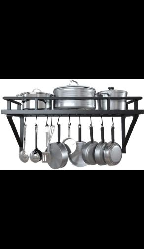 KES Wandmontage Groot Pannenrek voor koekenpannen en kookpannen