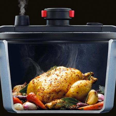 Stoompan gebruiken voor vlees en groenten